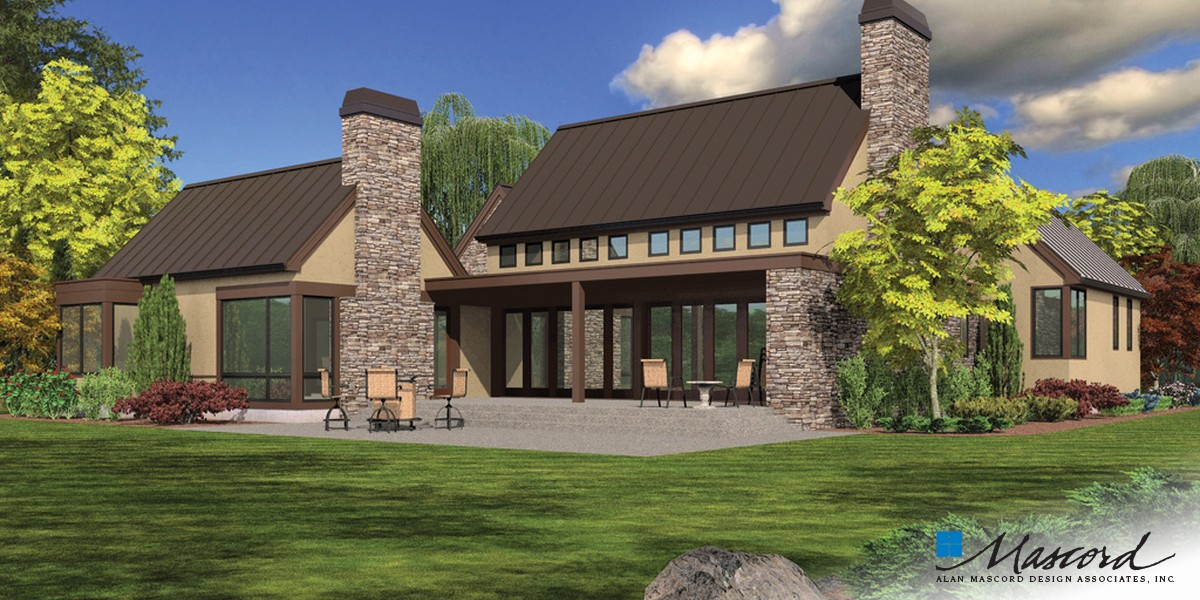 Image for Saxon-Wonderful Farmhouse Layout with Courtyard-Rear Rendering
