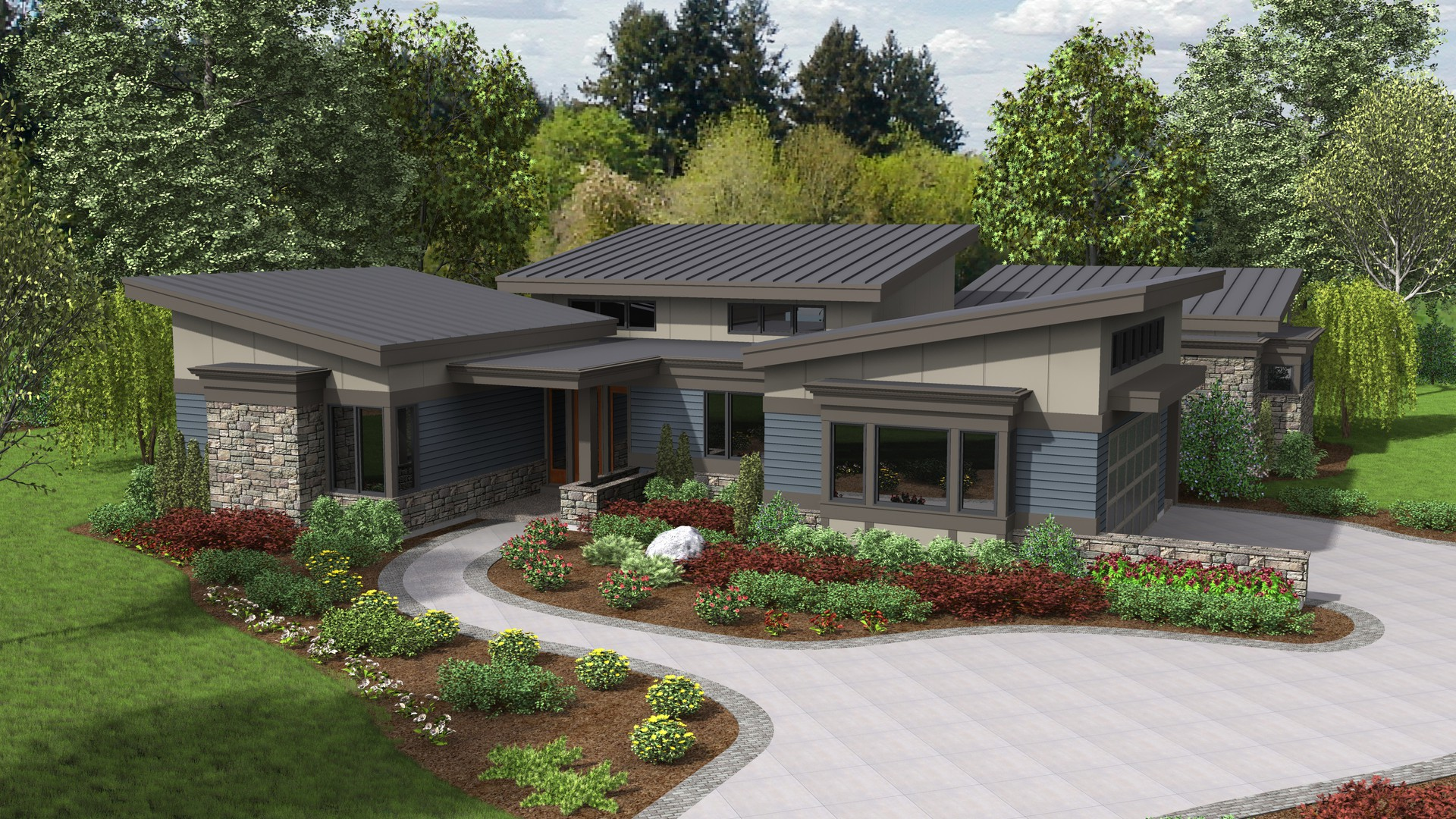 Contemporary House Plan 1242a The Caprica 2749 Sqft 3