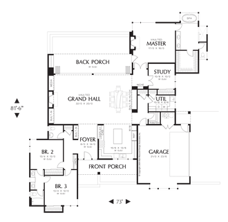 Image for Saxon-Wonderful Farmhouse Layout with Courtyard-Main Floor Plan