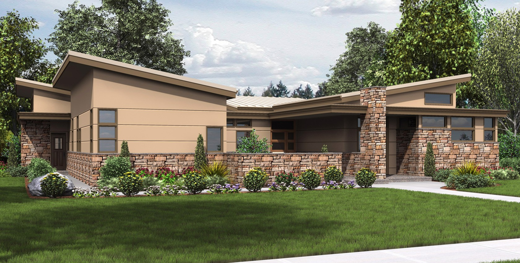 Image for Hamburg-Inviting Contemporary with walled front yard-4154