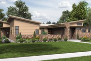 Front Rendering of Mascord House Plan 1243 - The Hamburg