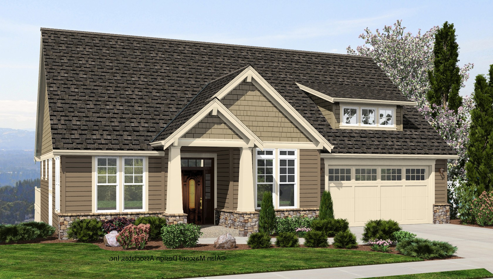 Mascord House Plan 1244: The Brandywine