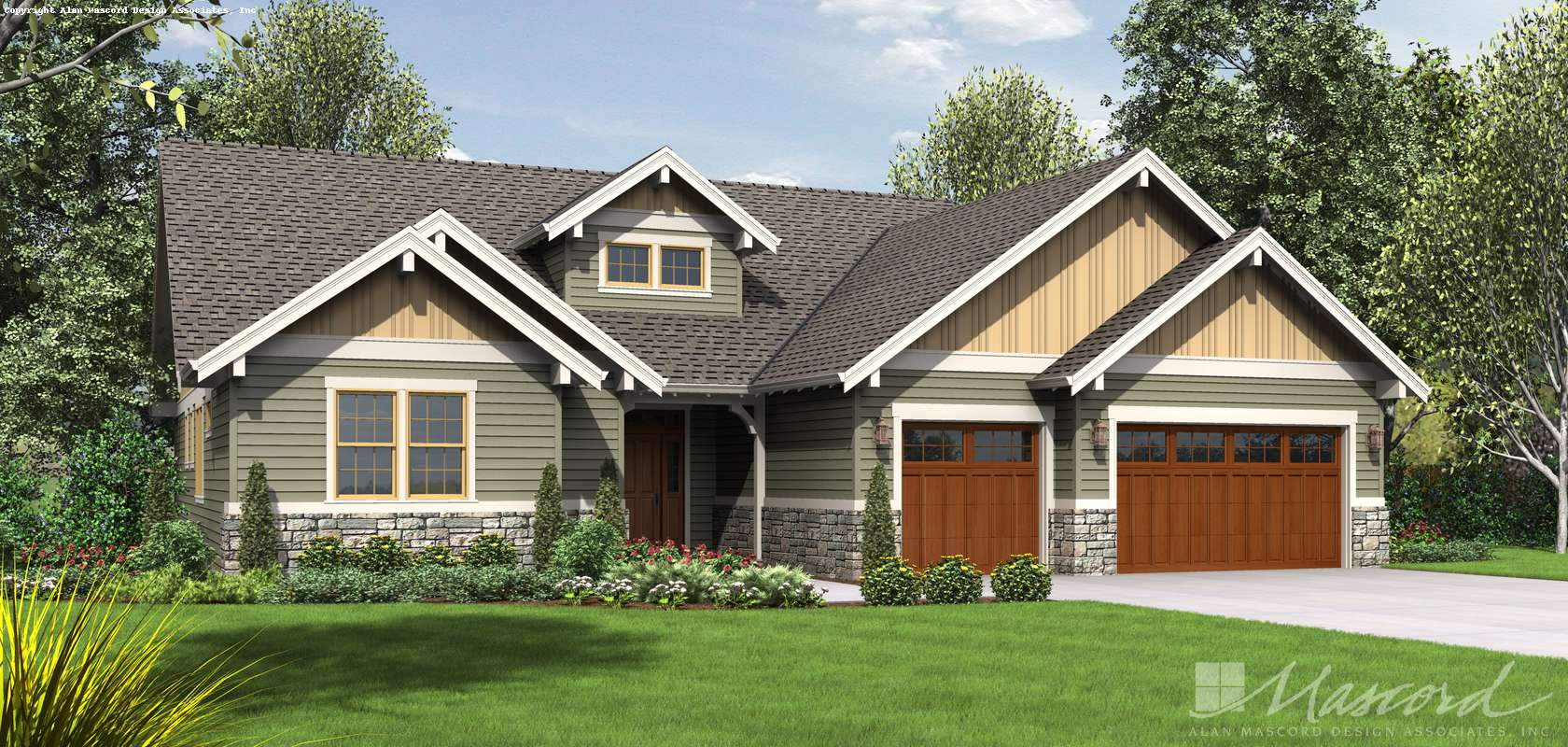 Mascord House Plan B1245C: The