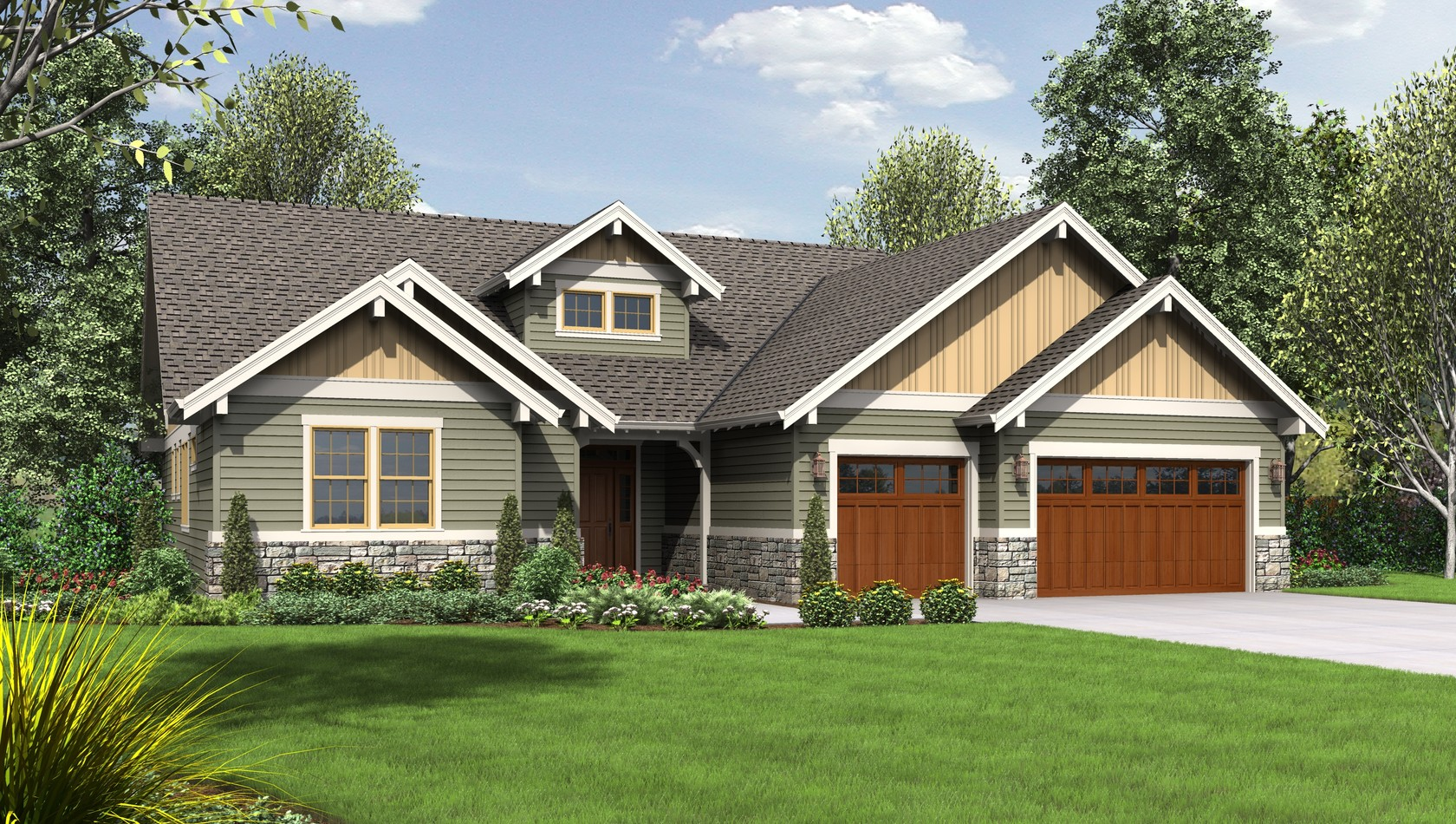 Mascord House Plan 1245C: The Lincoln