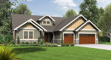Craftsman House Plans 1245C: The Lincoln  | The Lincoln: Single-story, Craftsman House Plan