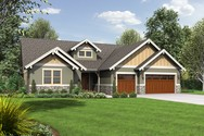Front Rendering of Mascord House Plan 1245C - The Lincoln
