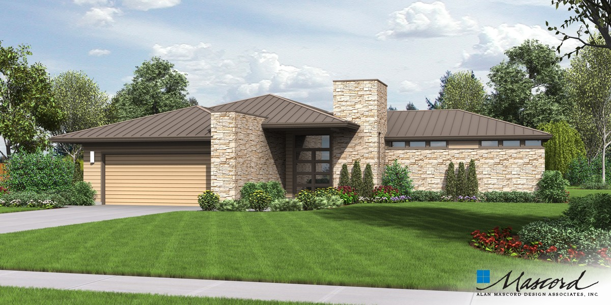 Image for Houston-Contemporary Ranch with Great Outdoor Connection-Front Rendering