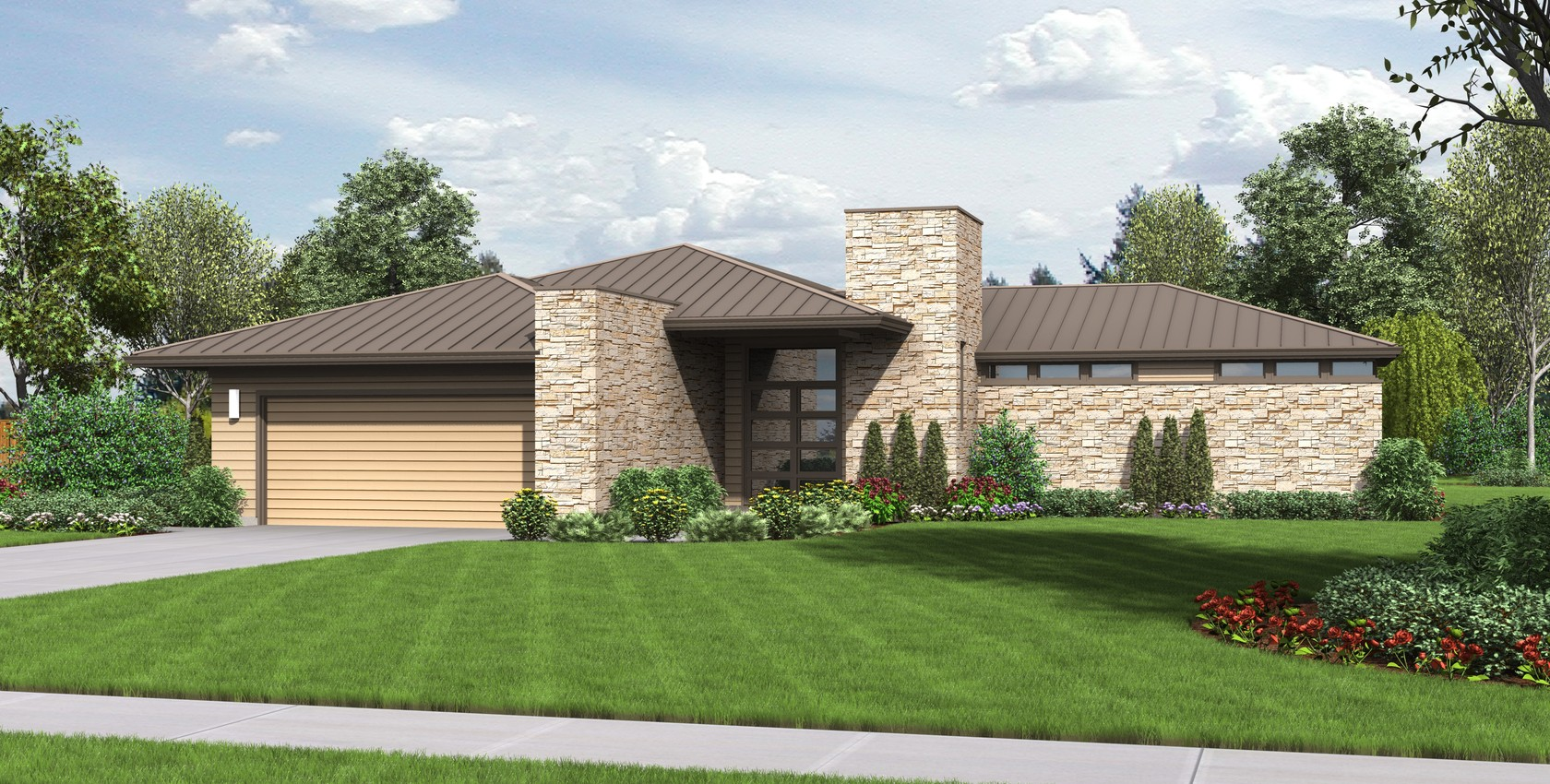 amazing house plans houston #3: Image for Houston-Contemporary Ranch with Great Outdoor Connection-6086