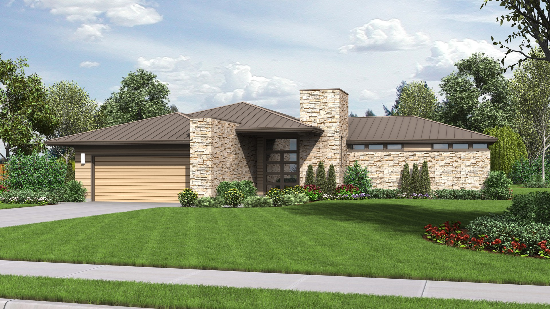 Contemporary house plan 1246 the houston 2159 sqft 3 for Houses in houston with basements
