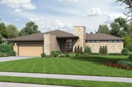 Front Rendering of Mascord House Plan 1246 - The Houston