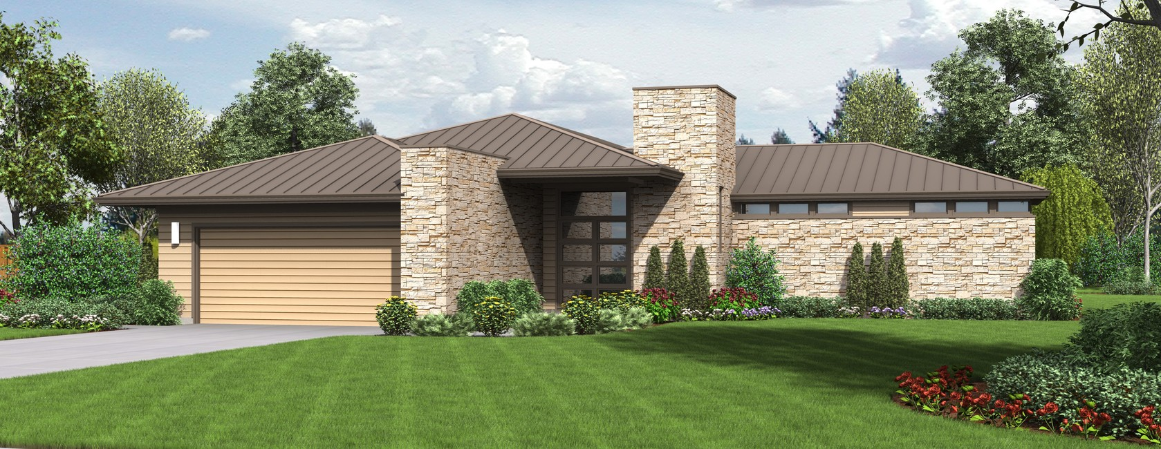 The Houston Modern Ranch House Plan With Outdoor Connection