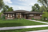 Front Rendering of Mascord House Plan 1247 - The Dallas