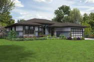 Front Rendering of Mascord House Plan 1247A - The Baines