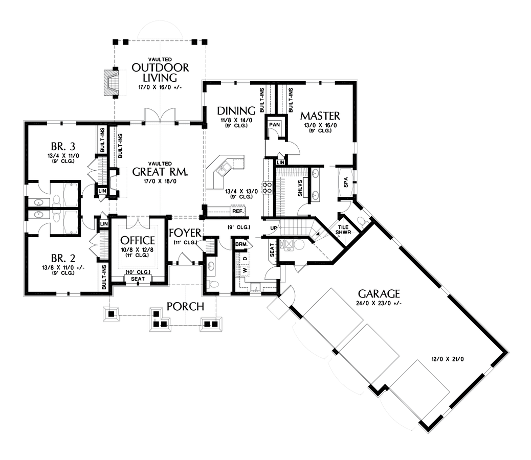 Image for Vasquez-Third Car Bay Addition to the RIpley-Main Floor Plan