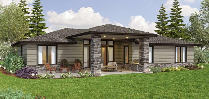 Mascord House Plan 1248D: The Newton