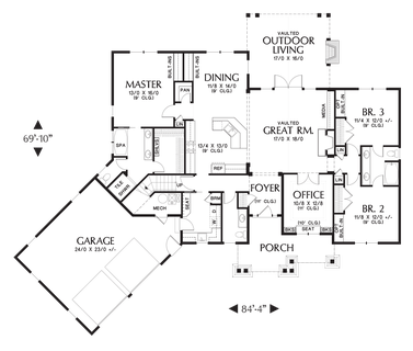Top 3 Multigenerational House Plans Build A Multigenerational Home together with 4f7eb9306e47ab60 3 Bedroom Bungalow Floor Plans 3 Bedroom Bungalow In Bridgetown Barbados in addition Most Popular 2000 2500 Sq Ft Floor Plans Video Tours furthermore Small House Plans besides 1248. on single story floor plans with 3 car garage