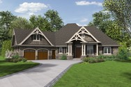 Front Rendering of Mascord House Plan B1248 - The Ripley