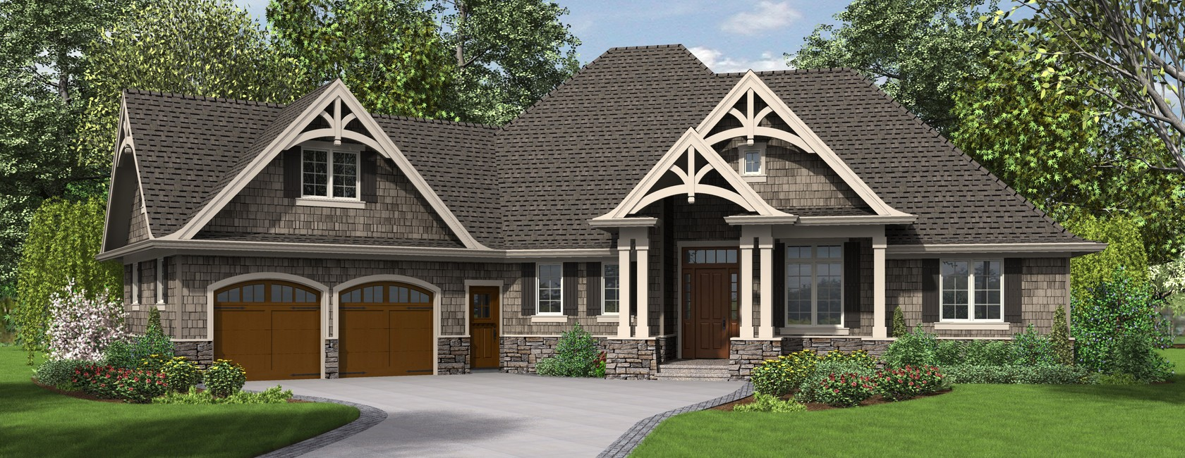 the ripley single story craftsman house plan with tons of