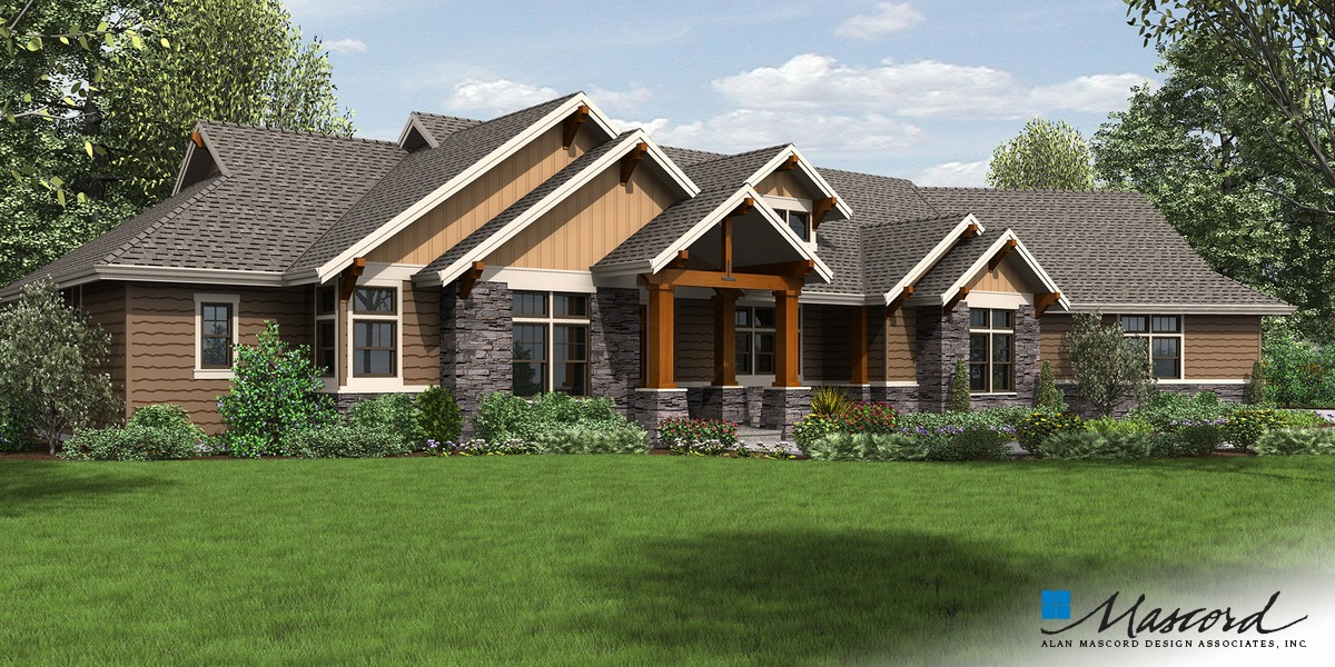 Image for Westfall-Award Winning NW Ranch Style Home-Front Rendering