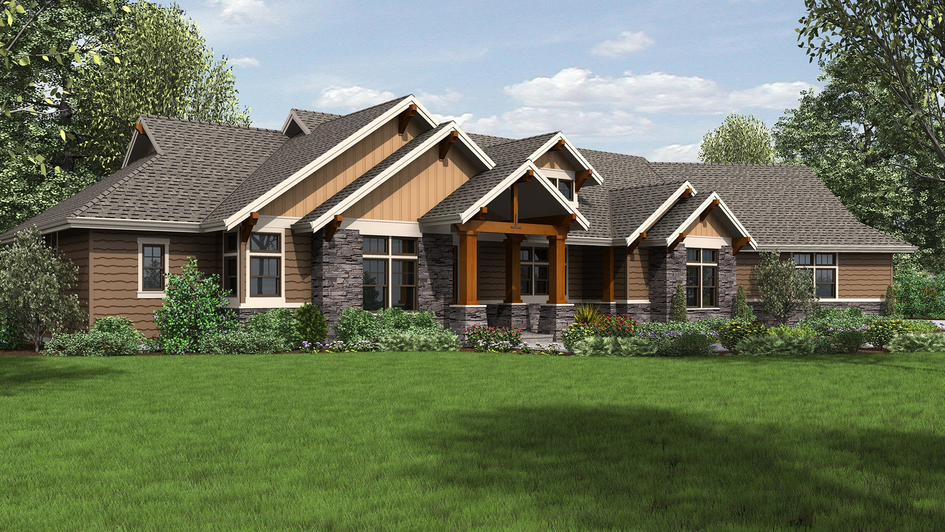 Craftsman House Plan 1250 The Westfall 2910 Sqft 3 Beds