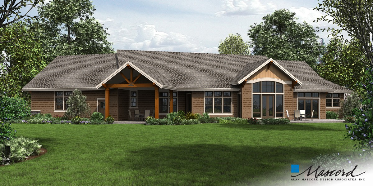 Mascord house plan 1250 the westfall for Award winning ranch house plans