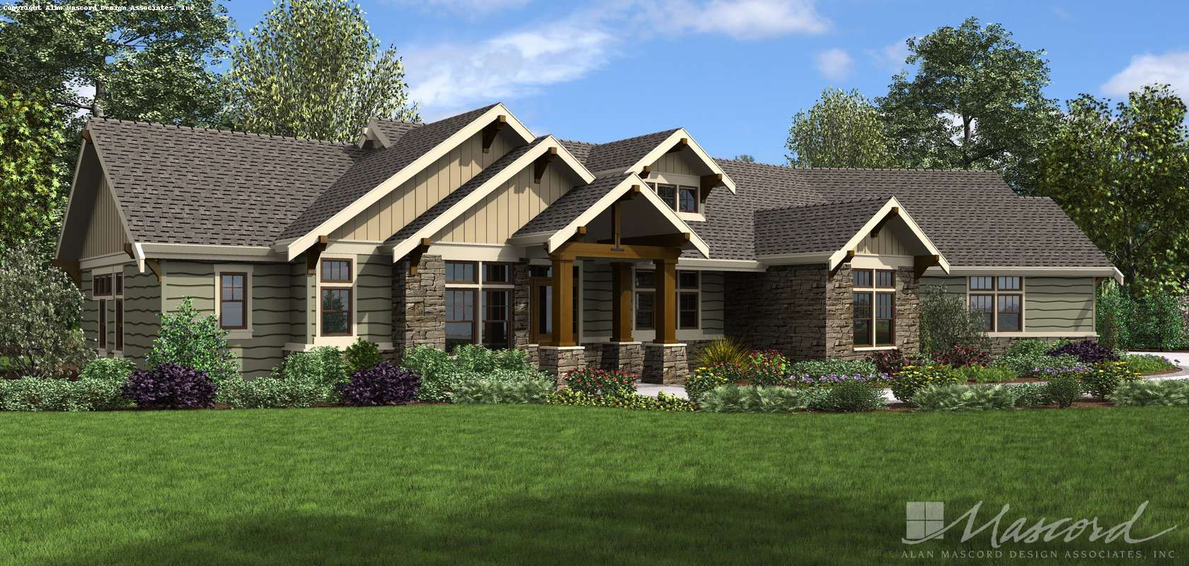 Mascord House Plan 1250B: The Arapahoe