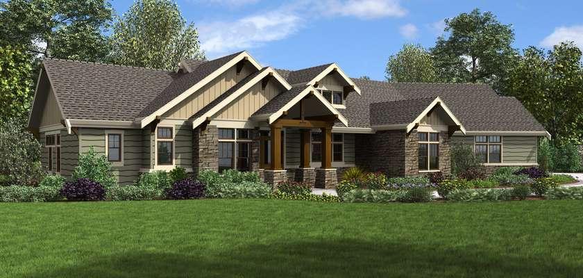 Mascord House Plan 1250B: The Arapahoe