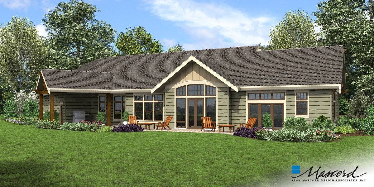 Image for Arapahoe-Popular Amenities such as Vaulted Spaces, Great Rear Porch-Rear Rendering