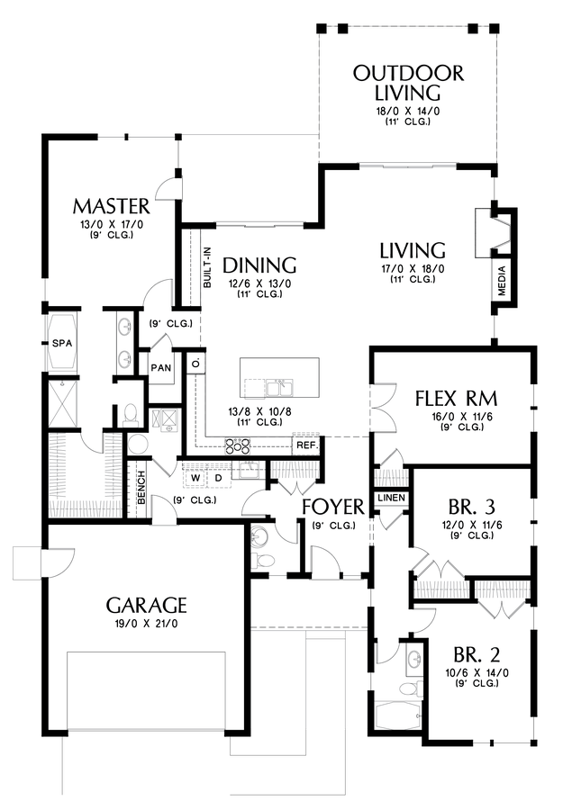 Image for Kennedy-Smart, Flexible Design, Mid-Century Modern Appeal  -Main Floor Plan