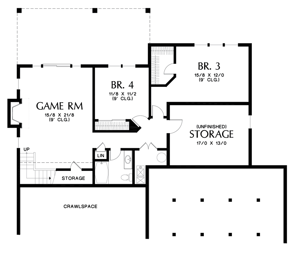 Image for Alamosa-Great Family Plan with Games Room-Lower Floor Plan