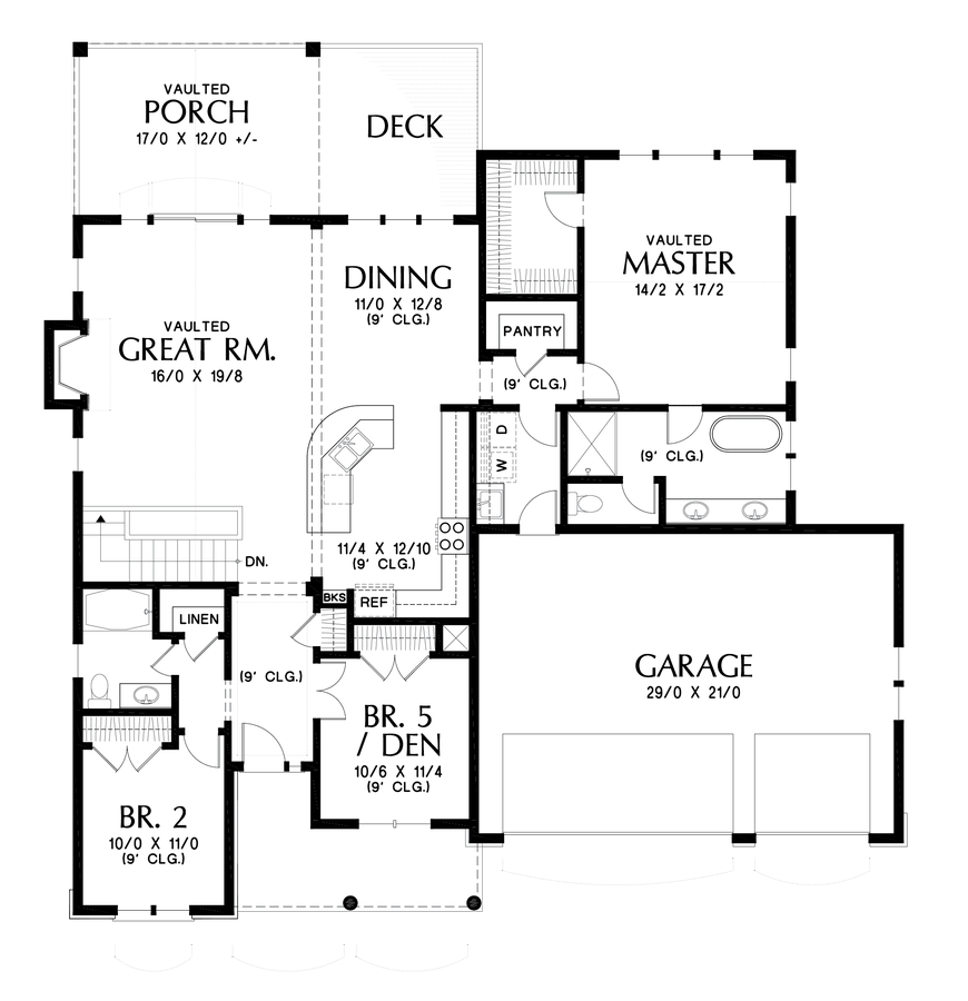 Image for Alamosa-Great Family Plan with Games Room-Main Floor Plan