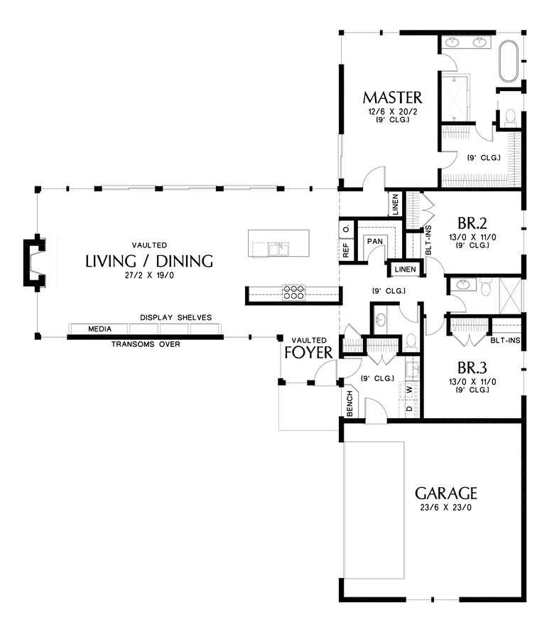 Image for Delores-Great Entertaining Space with Connection to Outdoors-Main Floor Plan