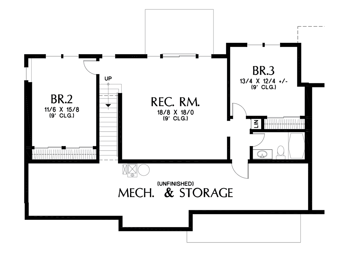 Image for Sunnydale-Popular Daylight Basement for Shallow Lots-Lower Floor Plan