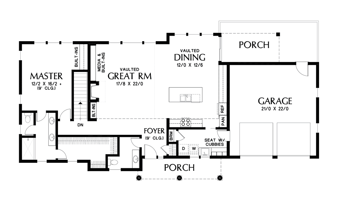 Image for Sunnydale-Popular Daylight Basement for Shallow Lots-Main Floor Plan
