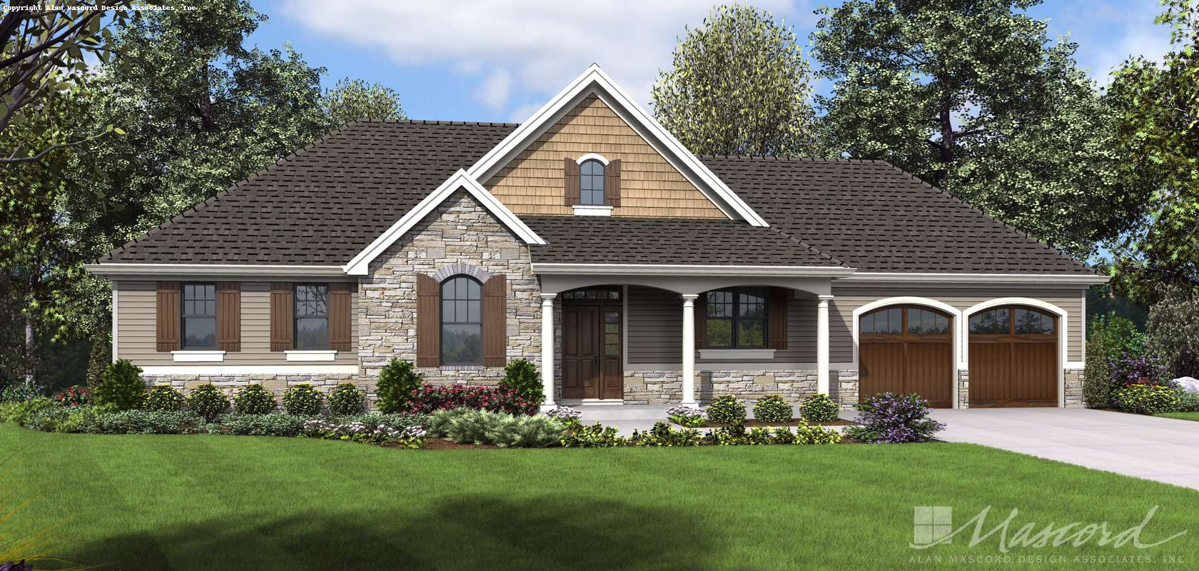 Mascord House Plan 1257: The Sunnydale