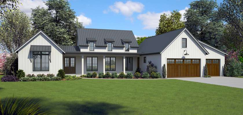 Mascord House Plan 1258: The Saddleridge