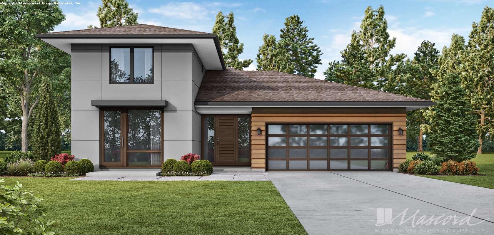 Mascord House Plan 1260A: The Alameda South