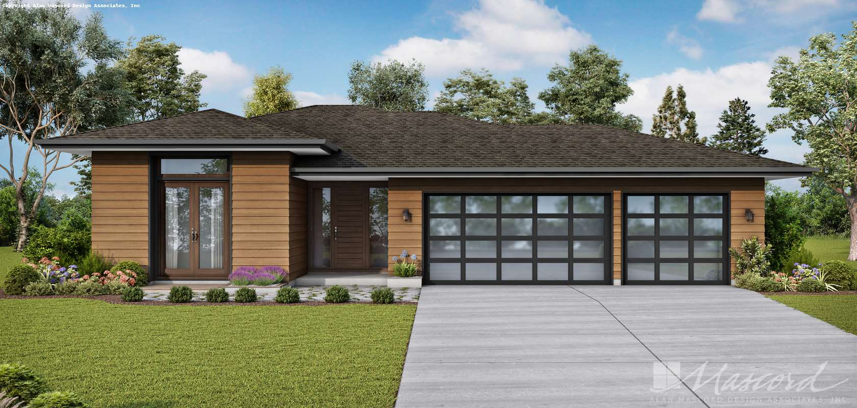 Mascord House Plan 1260AA: The Alameda South West