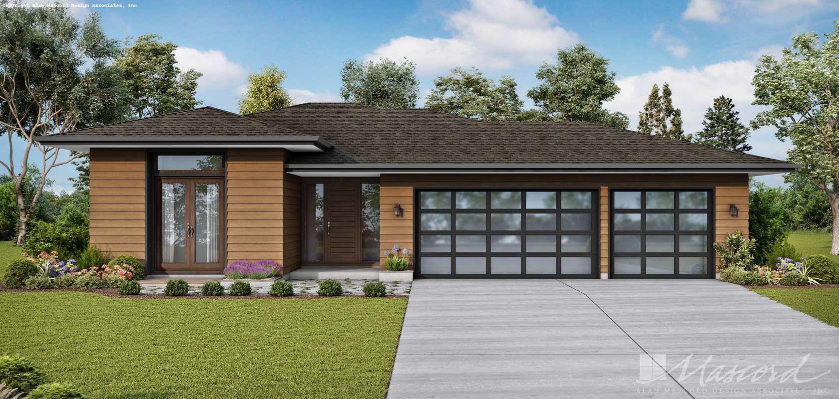 Mascord House Plan 1260AB: The Alameda South East