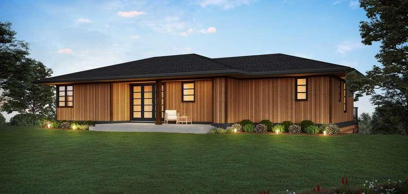 Mascord House Plan 1261A: The Shasta
