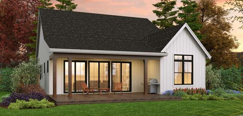 Mascord House Plan 1263: The Willows