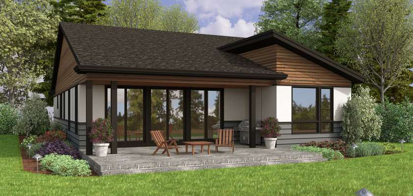 Mascord House Plan 1263A: The Springfield