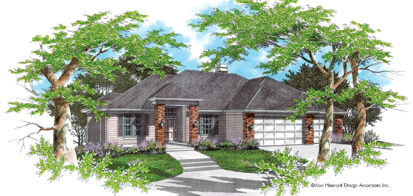 Mascord House Plan 1307: The Baldwin