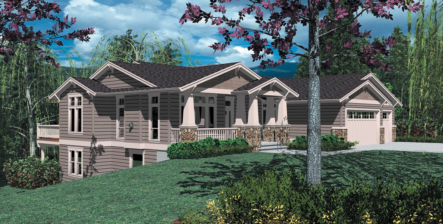 Front Sloping Lot House Plans House Plan 2017