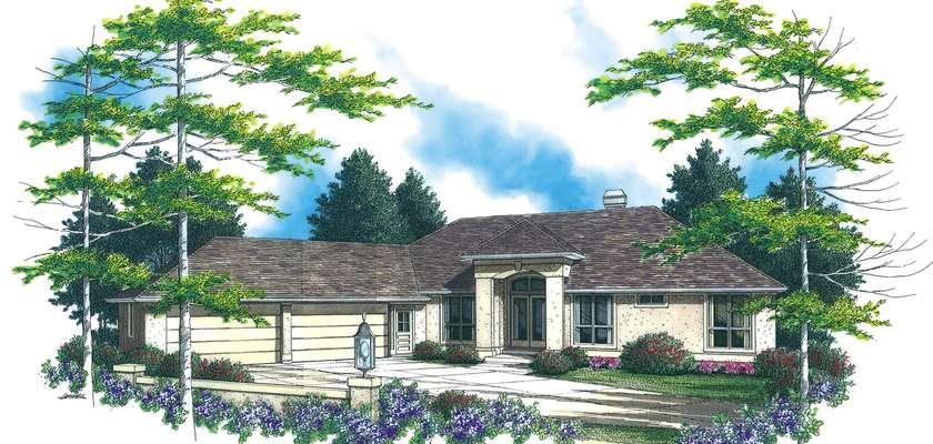 Mascord House Plan 1308B: The Doland