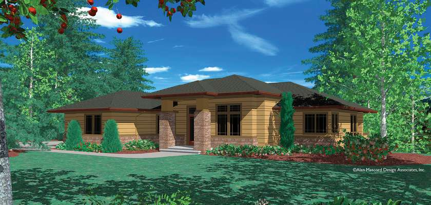 Mascord House Plan 1312AA: The Fullbright