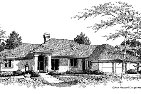 Image for Grayson-European Plan with Grand Entry and Arched Portico-569