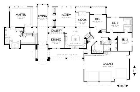 Image for Grayson-European Plan with Grand Entry and Arched Portico-Main Floor Plan