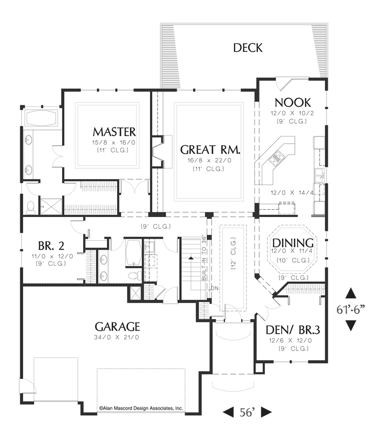 mascord house plan 1314 - the hedington