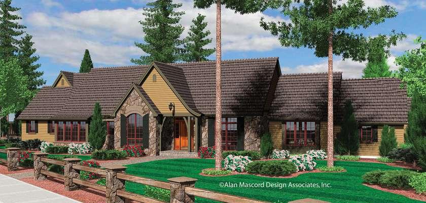 Mascord House Plan 1322: The Leewright